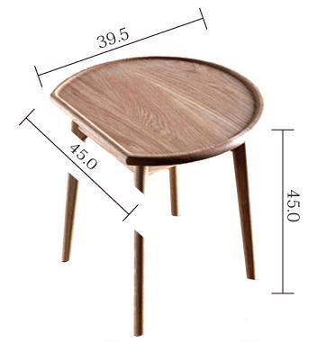 ウォールナット材サイドテーブルサイズ